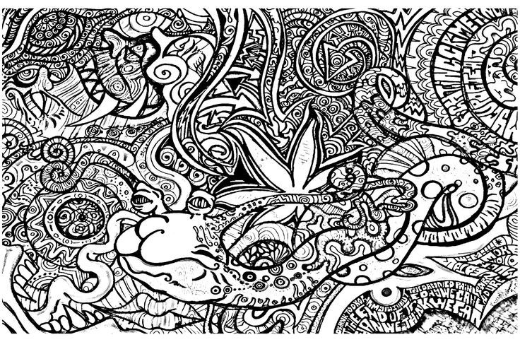 Image Result For Trippy Drug Coloring Pages Moon Coloring Pages