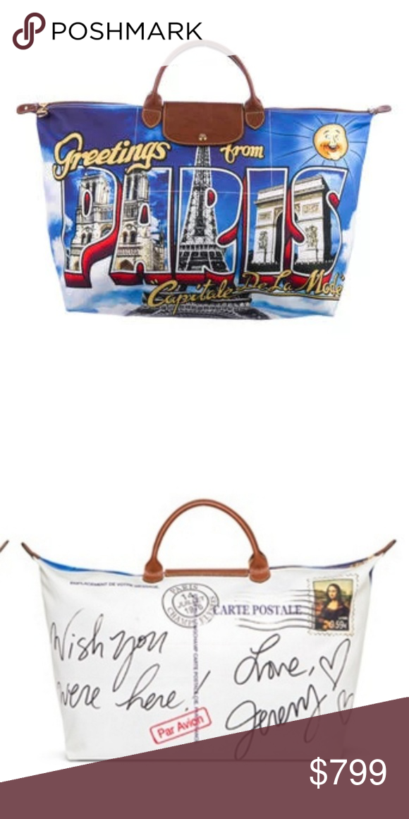 28be57ef3975 Longchamp Special Edition Jeremy Scott Amazing Longchamp bag. Only sold in  Paris and in one