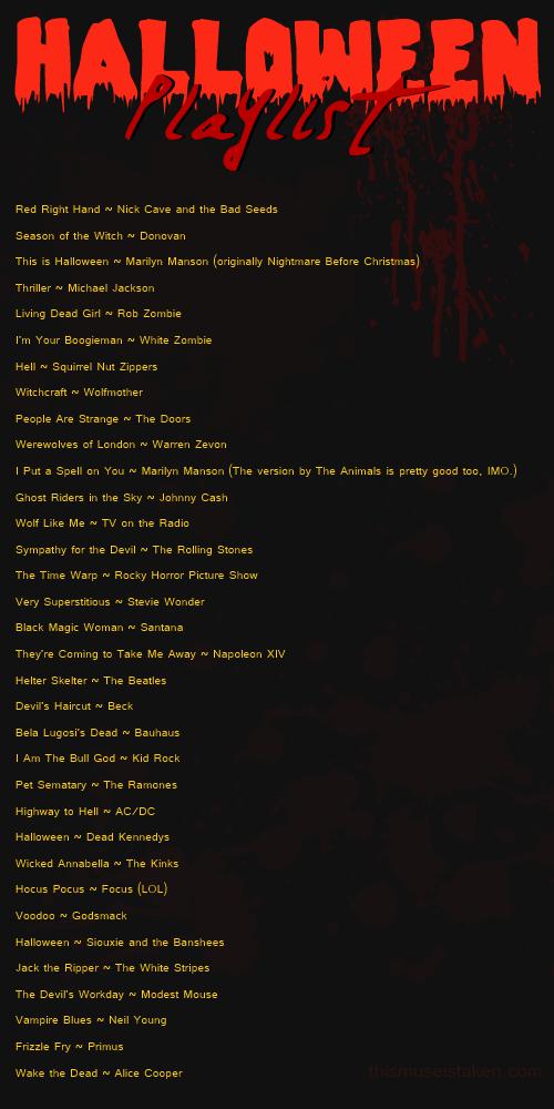 Rock Halloween Playlist | Music | Pinterest | Halloween playlist ...
