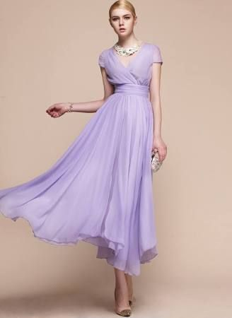 violet tea length dress - Google Search