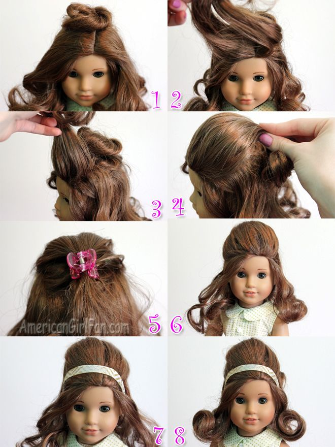 Steps For Vintage Doll Hairstyle American Girl Hair And Hair
