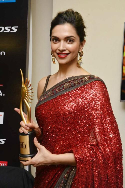 Image result for deepika in red saree award