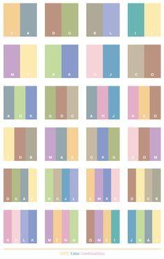 Pastel Color Combinations Poisk V Google Palet Warna Skema