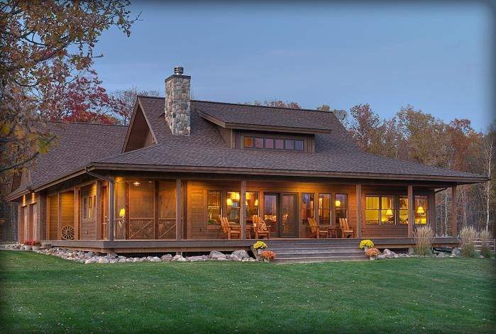 Seperate Screened In Porched Within The Wrap Around Porch House Plans House Building A House