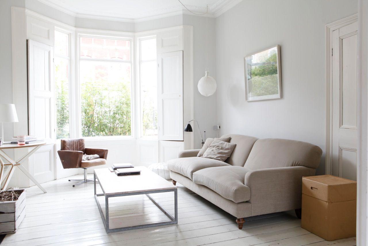 pale grey walls | light living room | pinterest | bay windows