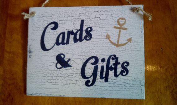 Nautical Wedding Sign Anchor Cards & Gifts Sign by HickoryandLace