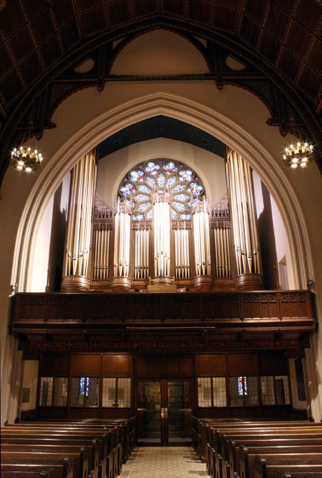 Schoenstein & Co. Organ, Op. 156 (2008) in the Gallery of St. James Episcopal Church - New York City (photo: Steven E. Lawson)