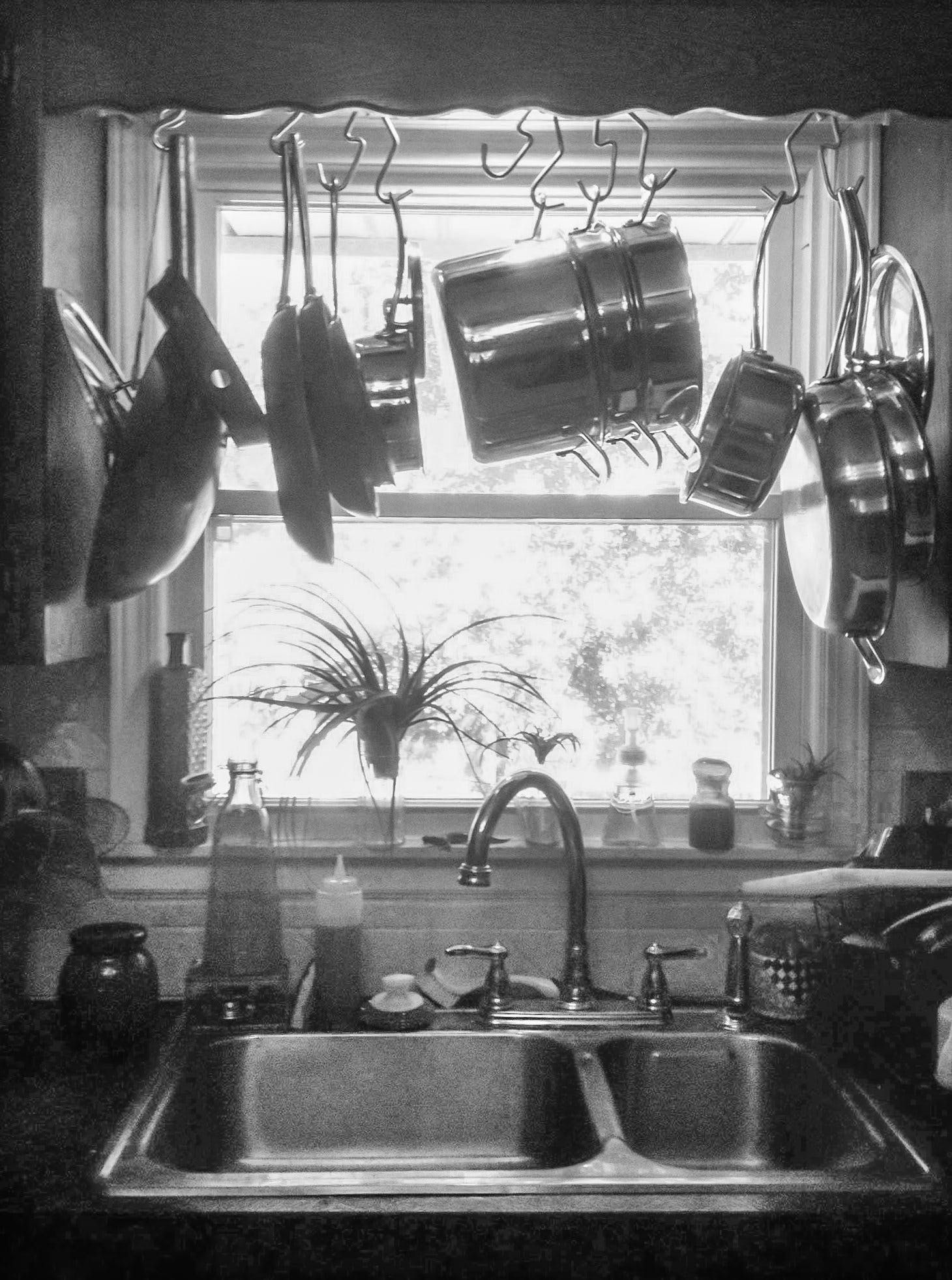 Hang Your Pot Rack Over the Sink and Let Your Pans Drip Dry ...