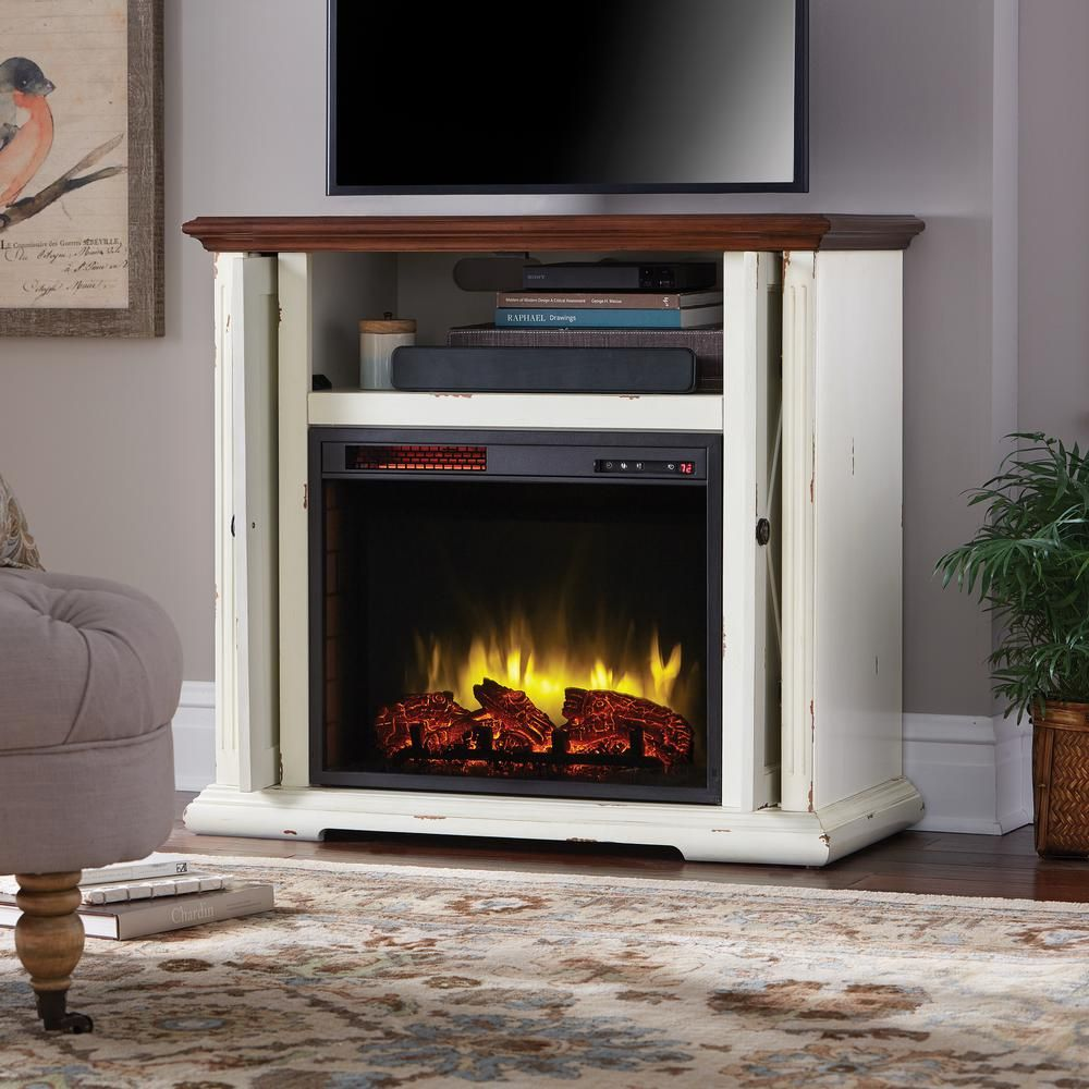 Home Decorators Collection Hamilton 38 In Infrared Pocket Mantel