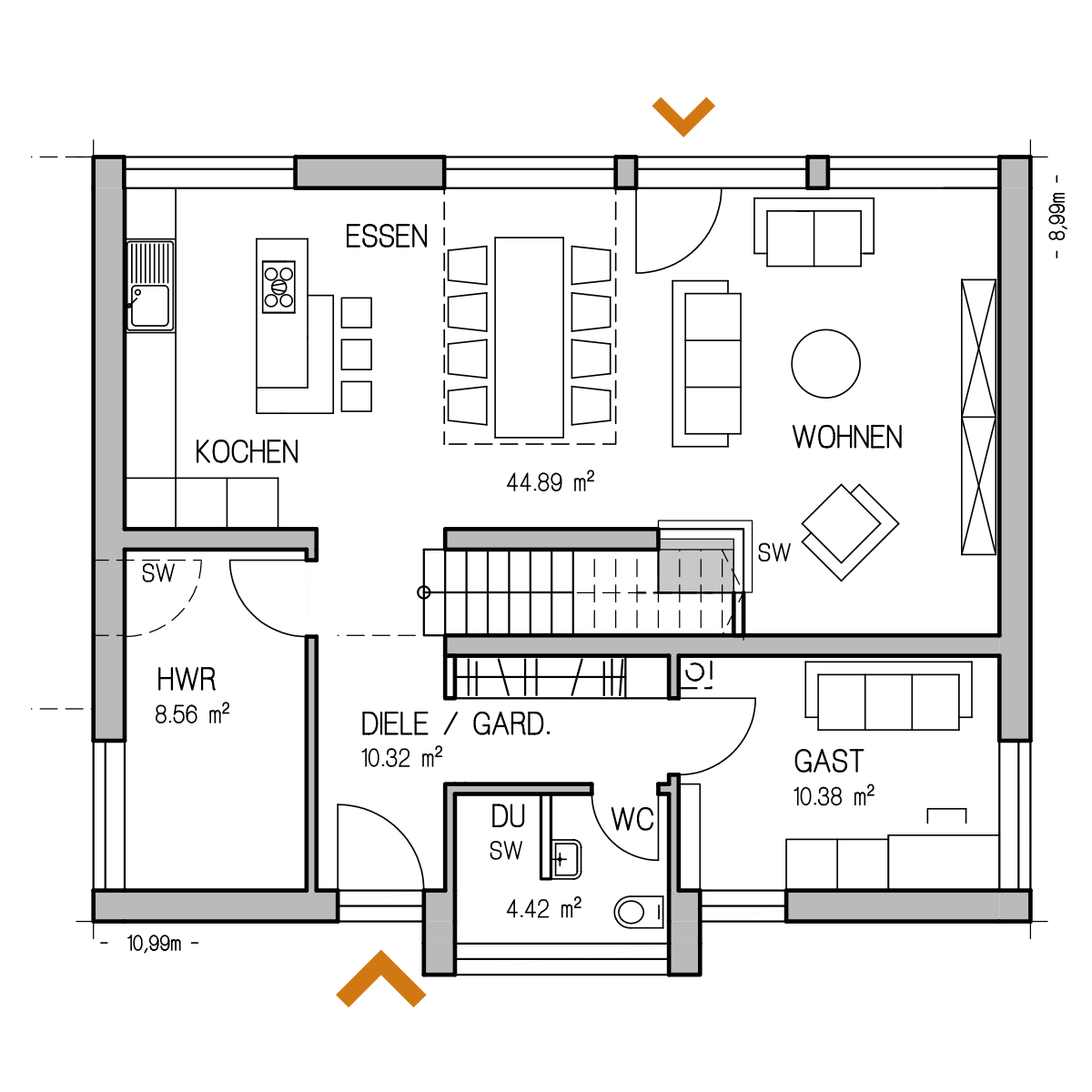 RKR Haus Grundriss Plan Haustyp Musterhaus Individuell