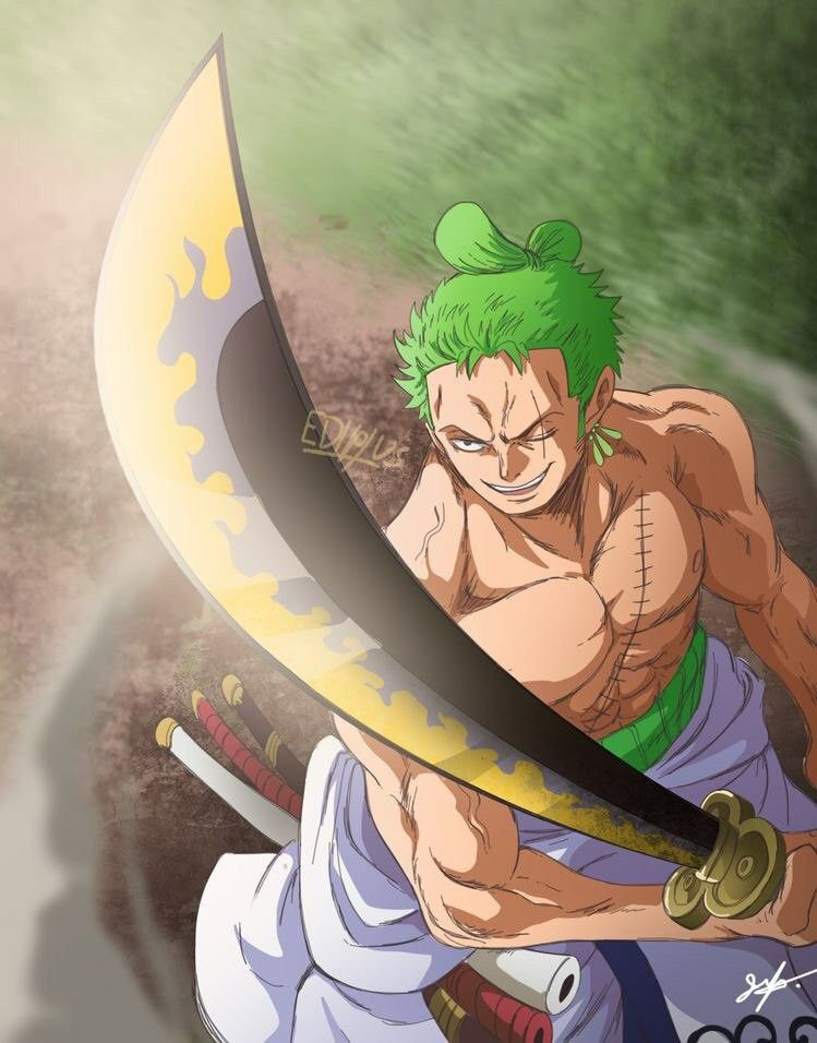Zoro And New Sword Enma Anime One Piece Personnages D Animes Fond D Ecran Dessin