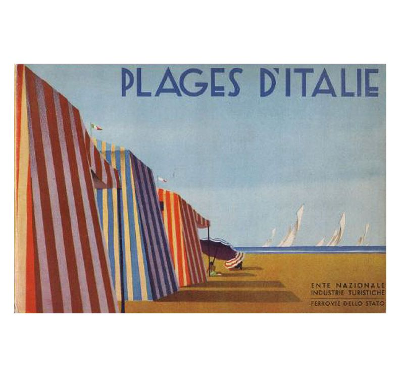 Plages d'Italie, travel guide, 1934. ENIT, Milano. Source