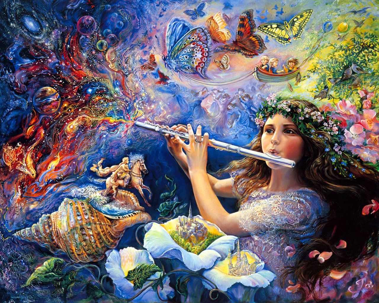 Art Of Imagination : Mystical Fantasy Paintings of Josephine Wall  1280*1024 NO.12 Wallpaper