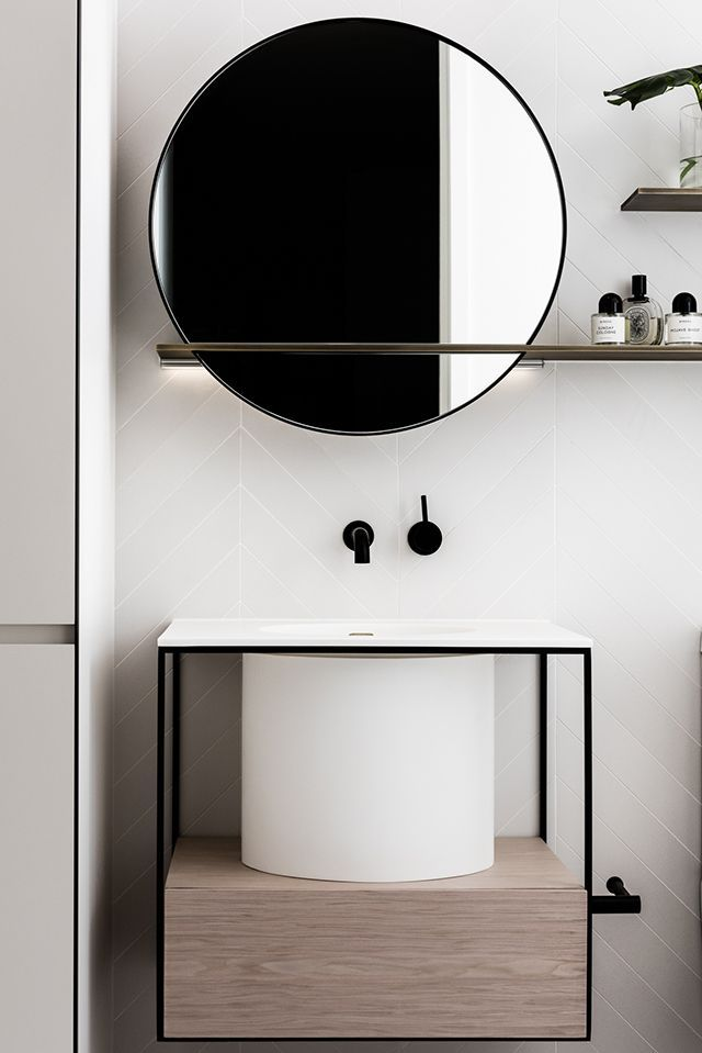 Let the mirror do the talking Bathrooms Pinterest Round