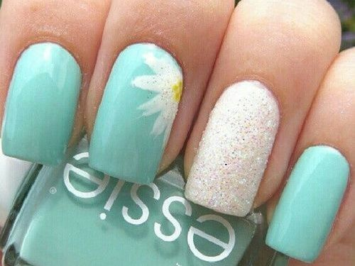 Funny White Blue Spring Nail Designs - Funny White Blue Spring Nail Designs Nail Designs Pinterest