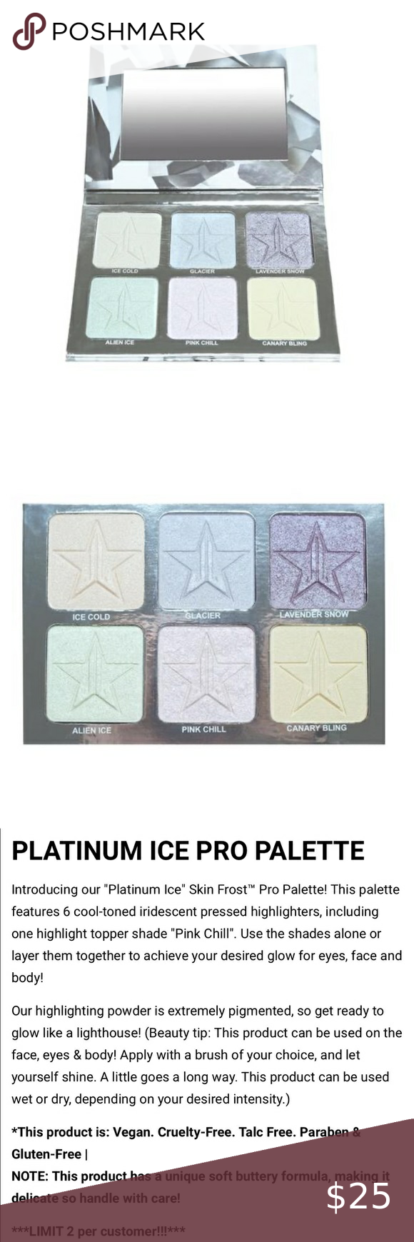 Jeffree Star Platinum Ice Palette Jeffree Star Highlighter Makeup Highlighter Palette