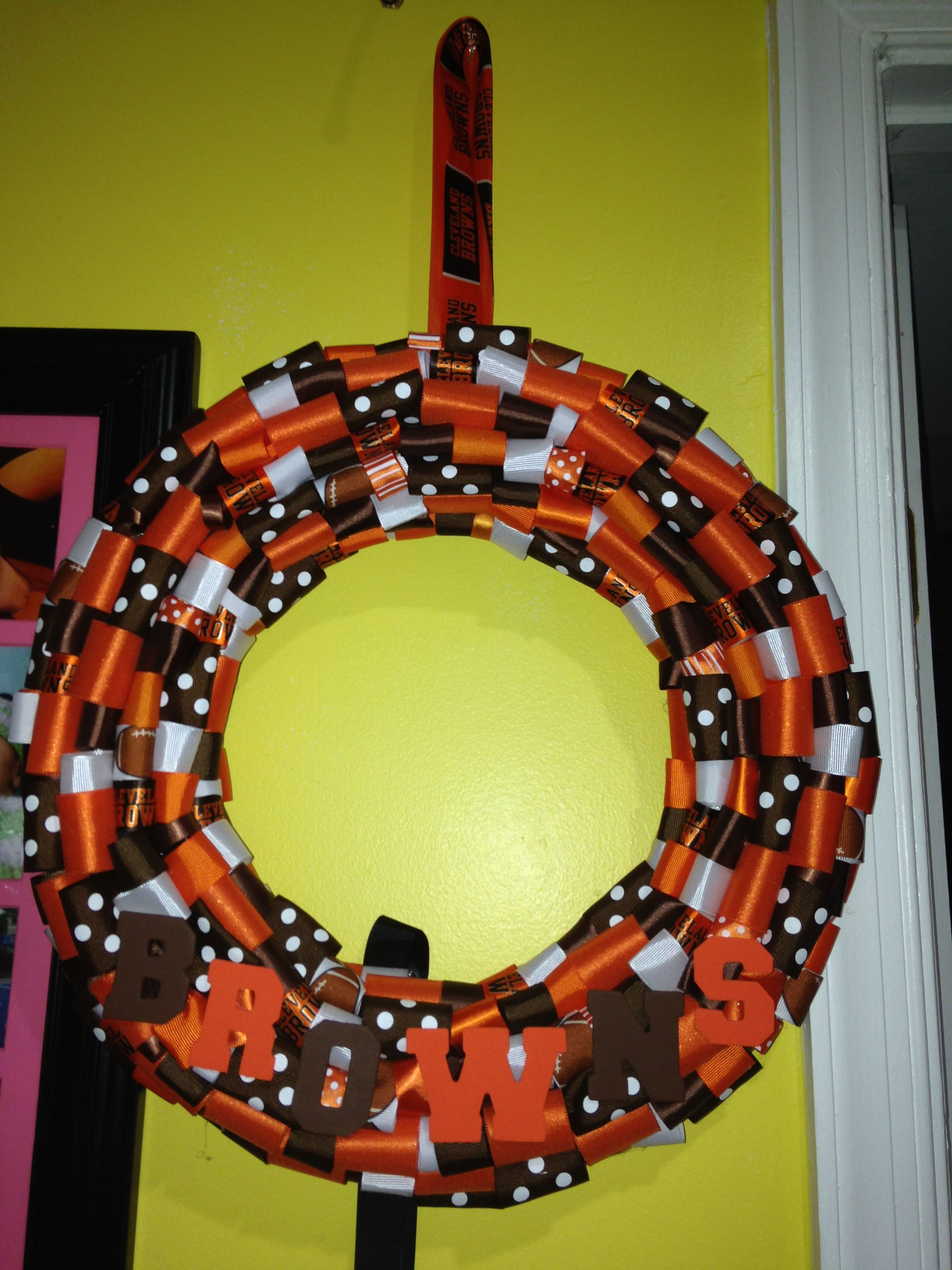 Cleveland Browns 14inch Wreath for 29.99 at