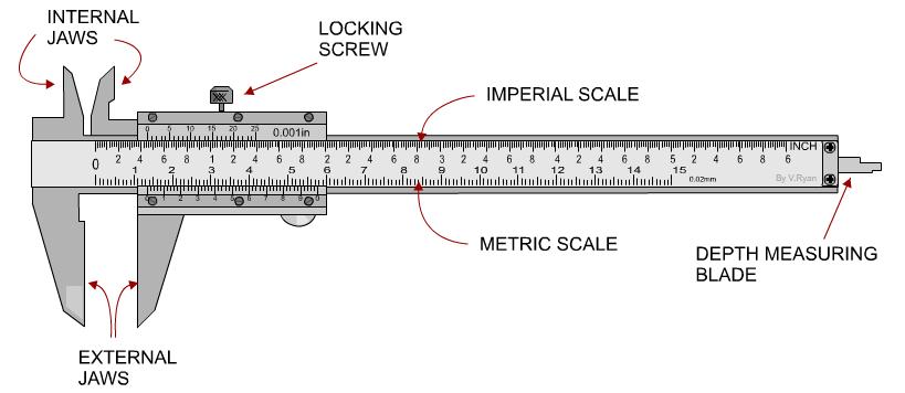 The Vernier Caliper Manual Version Vernier Caliper Vernier Engineering Tools