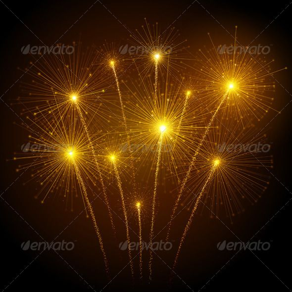 circus illustration fire works 4th of july celebration dark skies vector design
