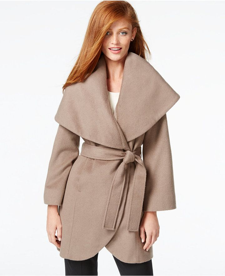 Tahari Wool-Blend Wrap Coat | Women's Cold-Weather Clothing ...
