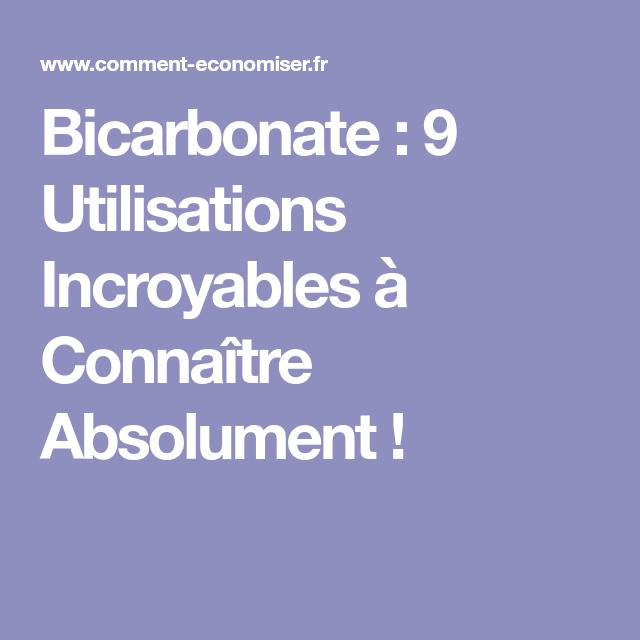 Bicarbonate : 9 Utilisations Incroyables à Connaître Absolument !