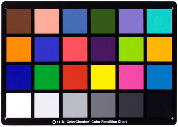 The ColorChecker Classic showing 24 Munsell notation patches