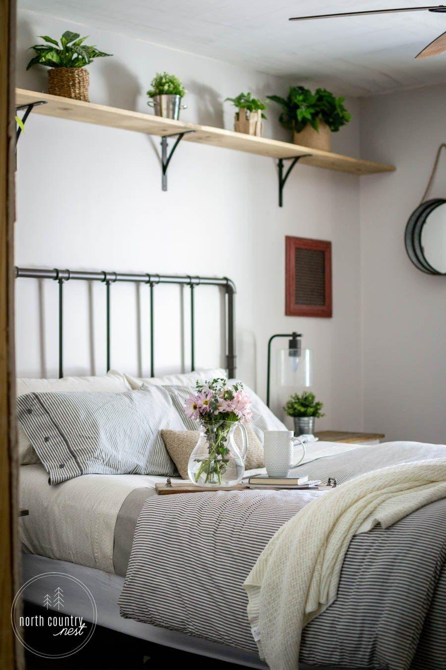 Simple Spring Decor For The Guest Bedroom Farmhouse Decor