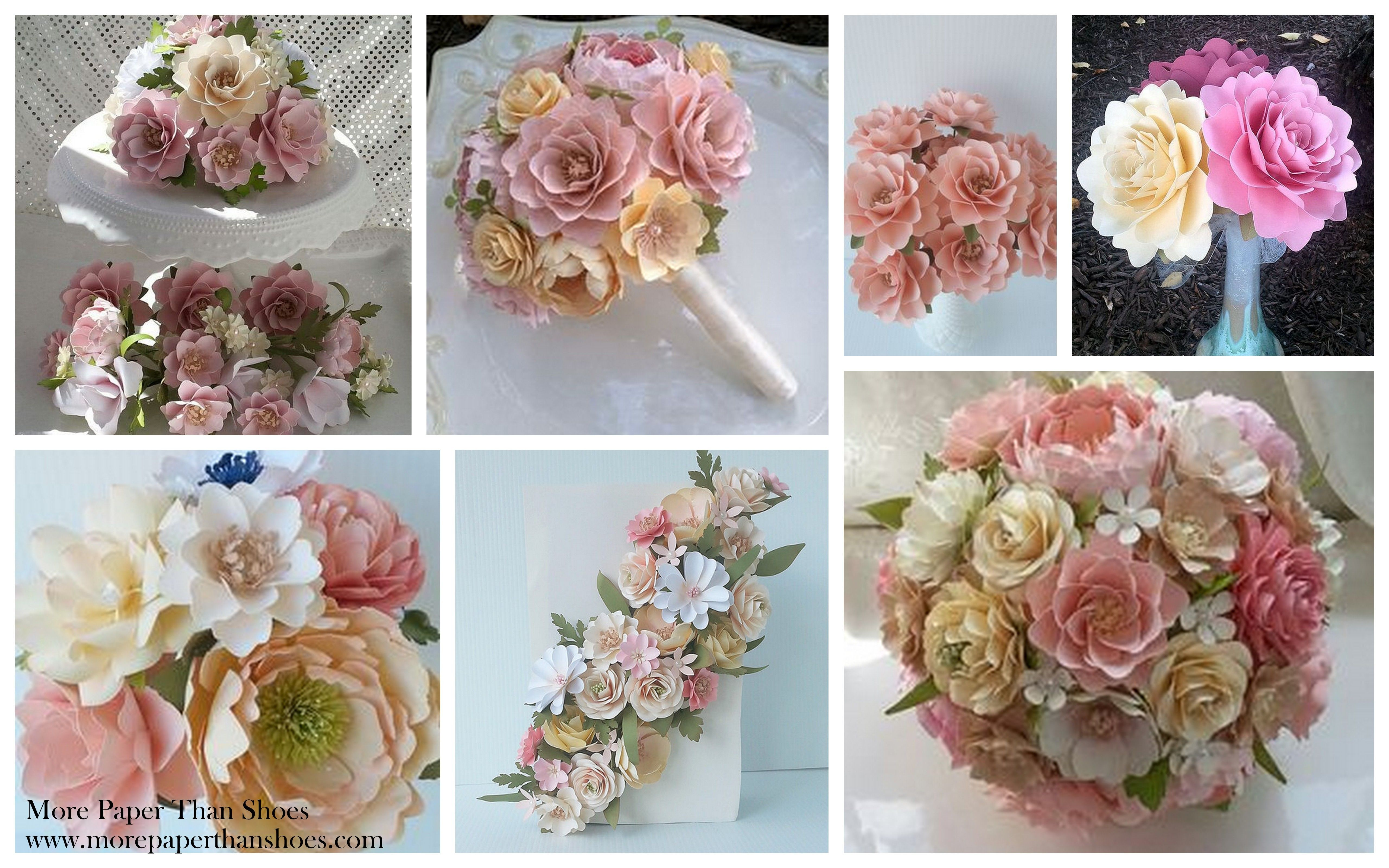 Shabby chic wedding flowers pink and ivory paper flowers shabby chic wedding flowers pink and ivory paper flowers wedding day bridal izmirmasajfo