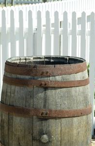 How To Make A Water Feature Out Of A Wooden Barrel Rain Barrel Homemade Water Fountains Diy Water Fountain