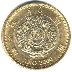 Moneda de 10 pesos Mexico Conmemorativa del Ano 2000
