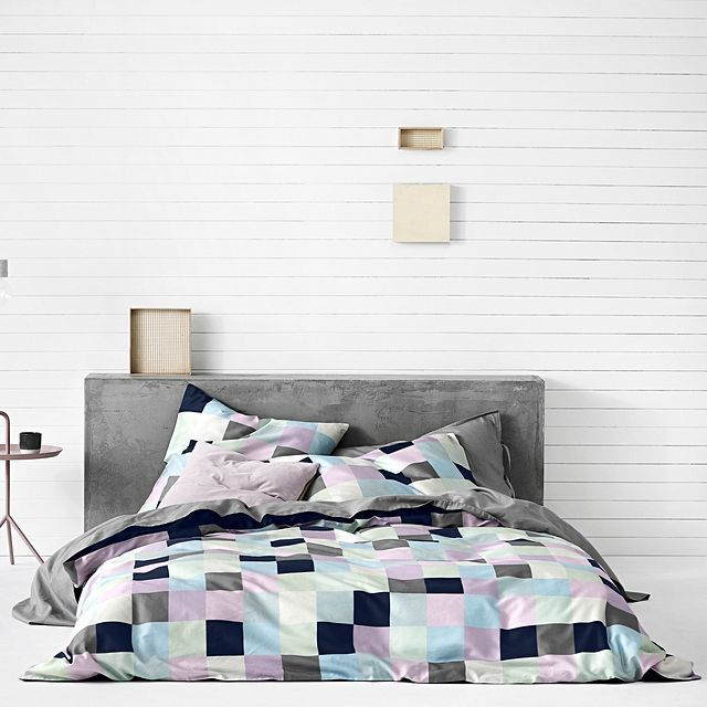 Aura by tracie ellis mosaic quilt cover azure bed cover for Tracie ellis bedding