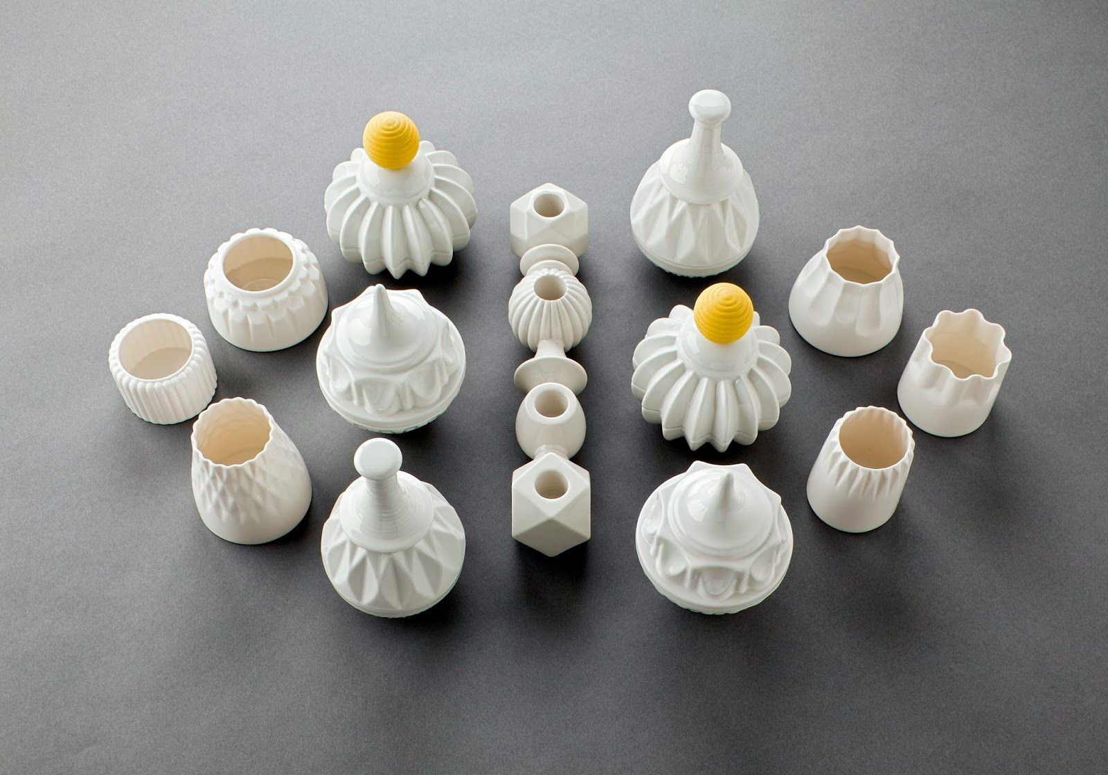 Danish Finnsdottir  makes nice looking ceramics that resembles pastry or candy. I love the pendant lights and vases. --- Tansk...