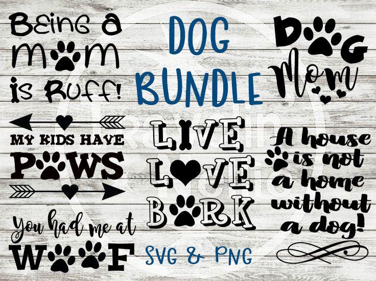 SVG Bundle, (6), Dog SVG Bundle, Live Love Bark svg, Dog