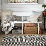 For the den   Emmie Kay Ivory Black Rug - Magnolia Market | Chip & Joanna Gaines
