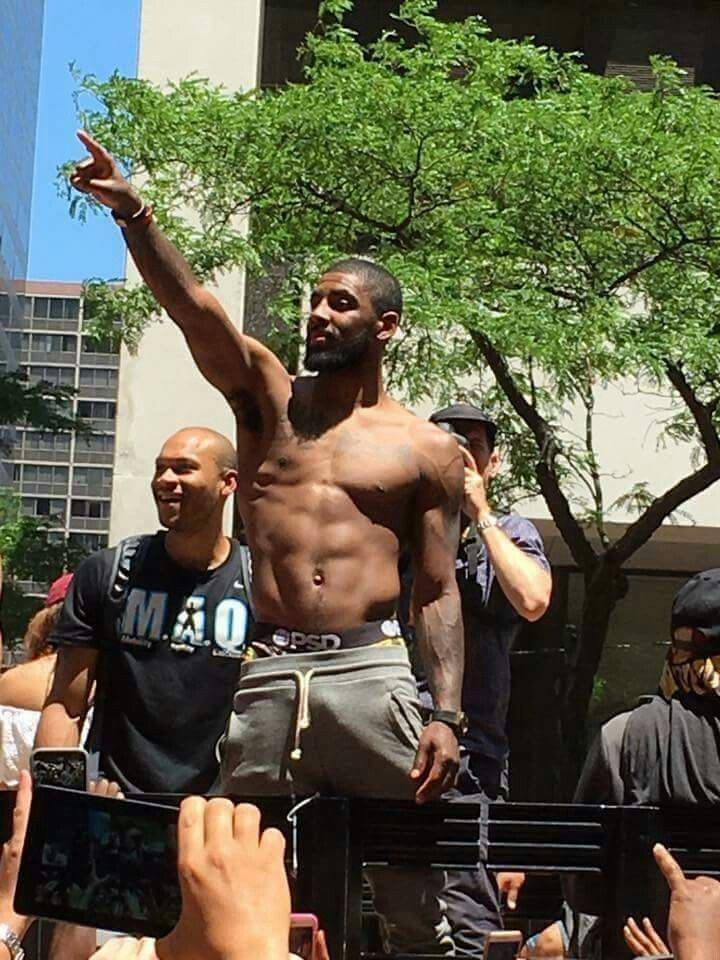 new style 2f304 8c809 Cleveland Cavaliers Championship Parade 2016. Kyrie ...