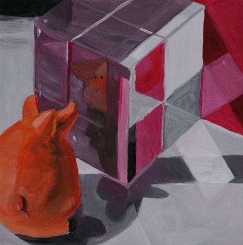 """Curiosity"" - Original Fine Art for Sale - © Aniko Makay"