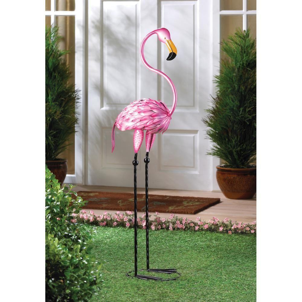 Tropical Tango Pink Flamingo Garden Sculpture Statue