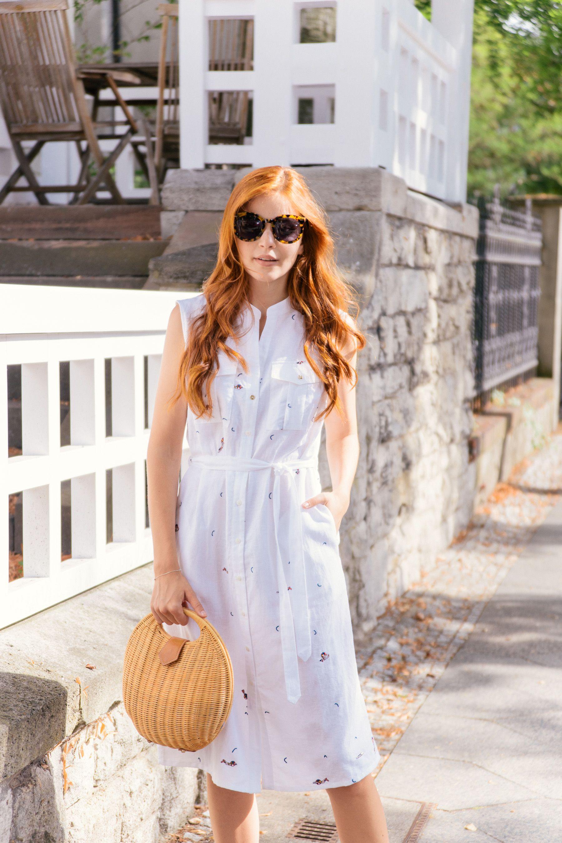 Late Summer Shirtdress Magnolia Charles Fashion Blog Shirt Dress Summer Shirt Dress Spring Summer Fashion [ 2697 x 1800 Pixel ]