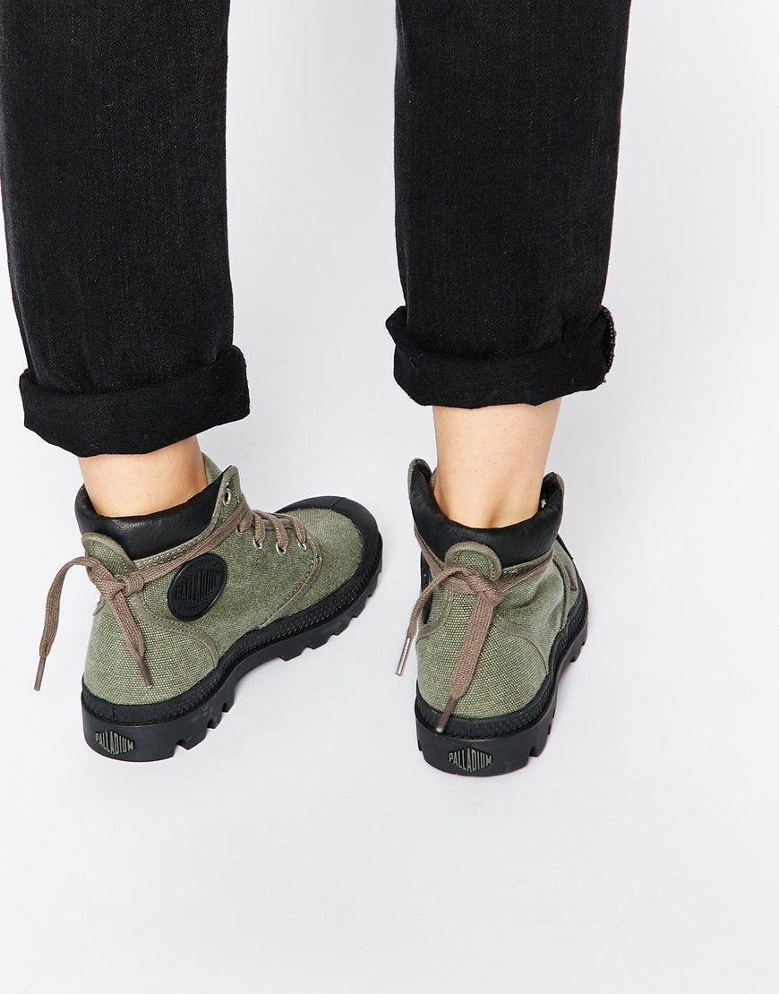 Palladium Pampa Hi Cuff Lace Up Ankle Boots Palladium Boots Women 3a577ba59