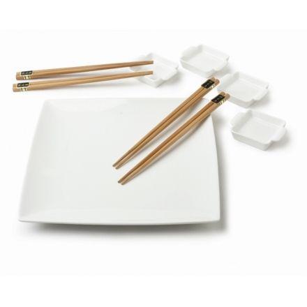 Conjunto para servir comida japonesa pra casa r for Utensilios para servir comida