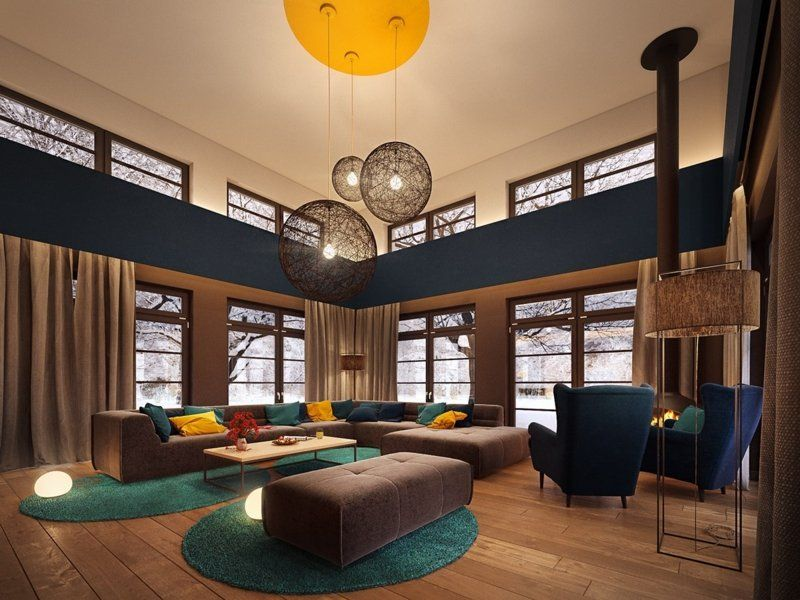 Décoration colorée u2013accrocheur dans une maison contemporaine - decoration maison salon moderne