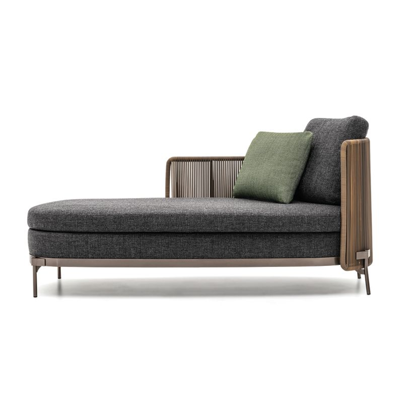 Canapé Méridienne TAPE CORD OUTDOOR   MINOTTI  SILVERA is part of Bench furniture - Canapé Méridienne TAPE CORD OUTDOOR de MINOTTI disponible chez Silvera, spécialiste du mobilier design pour professionnels et particuliers