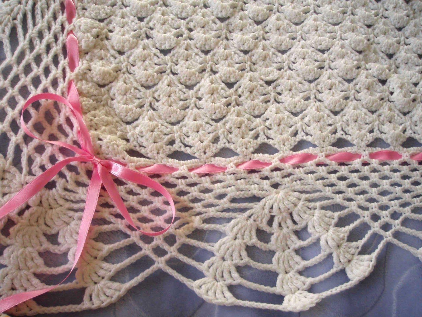 Espacio Crochet: Manta de bebé | Crochet and knitting blanket ...
