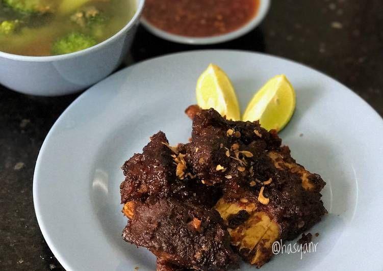 Resep Iga Bakar Teflon Sambal Pedas Oleh Hasya Nr Resep Resep Iga Resep Masakan Indonesia Makanan