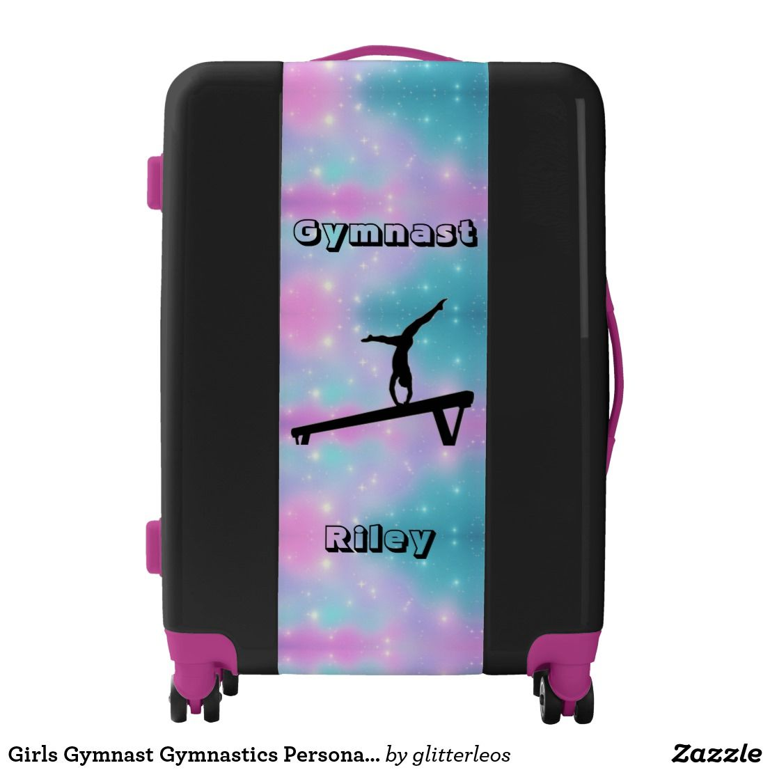 Love Gymnastics Gymnast Luggage Tags Bag Travel Labels For Baggage Suitcase