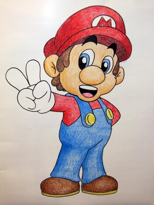 Pin the Mustache on Mario... Gotsta do this for the boys' party. They <3 himmm.