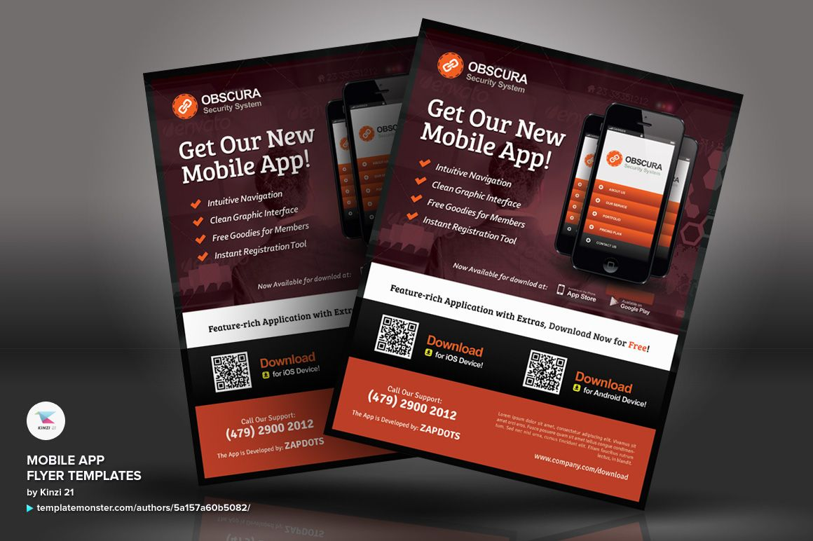 Mobile App Flyer PSD Template 66250 Flyer template