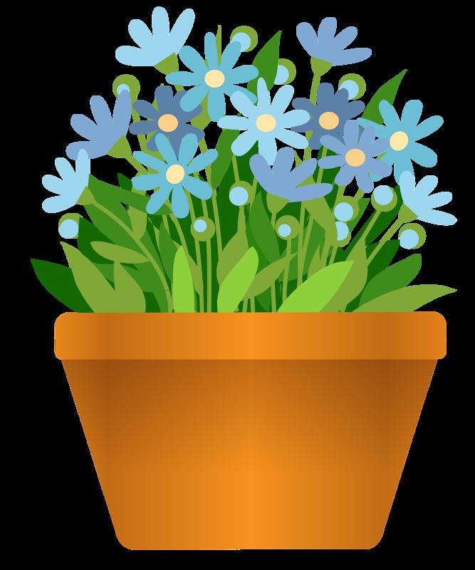 Картинки по запросу цветок в горшке клипарт пнг