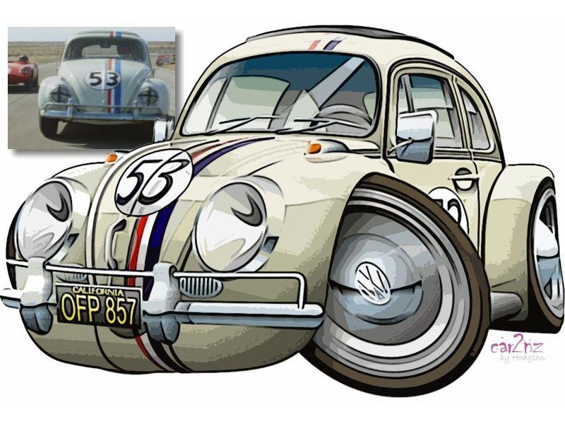 Vw beetle herbie mobil pinterest voiture - Dessin coccinelle vw ...
