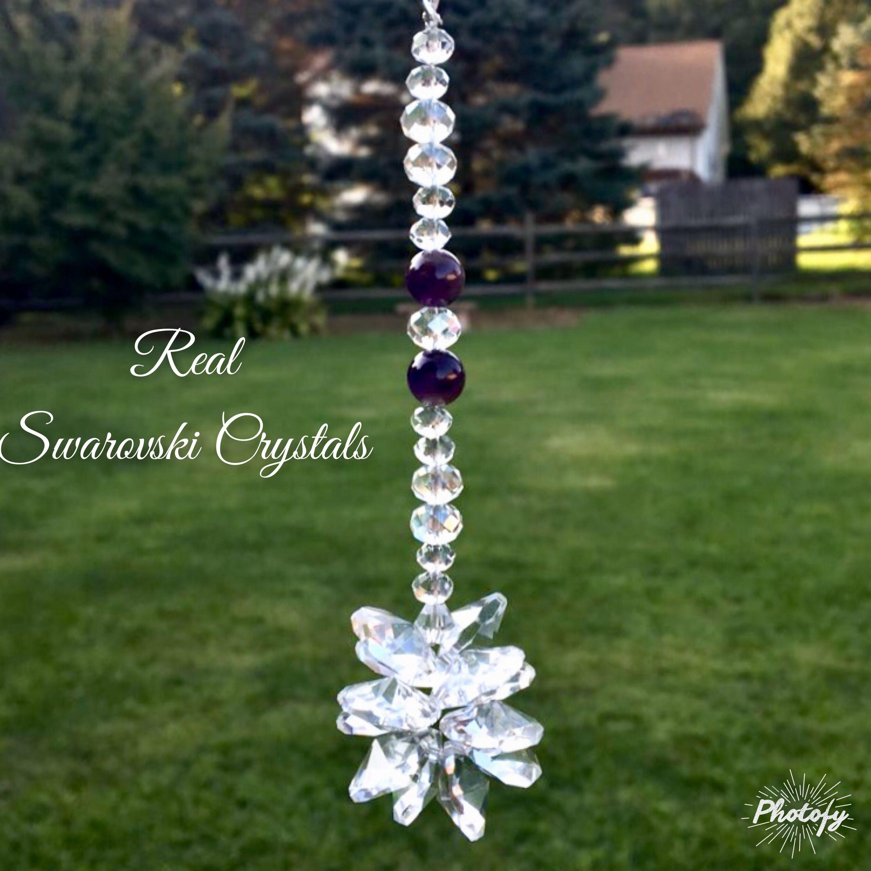 Gemstone Rear View Mirror Car Charm,Crystal Sun Catcher,Tree Of Life Window Ornament,Green Adventurine,Hanging Car Charm